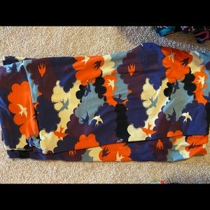 Lularoe tc bird and clouds leggings